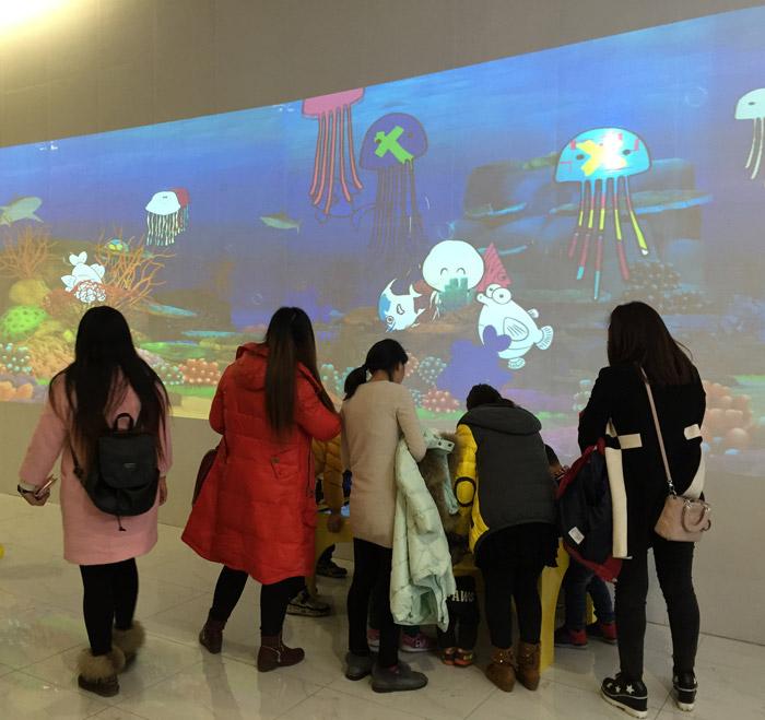 永旺梦乐城苏州新区店互动投影