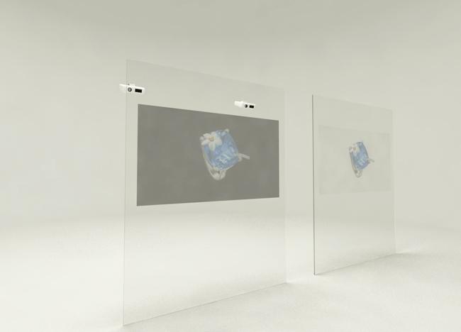 火米互动橱窗投影
